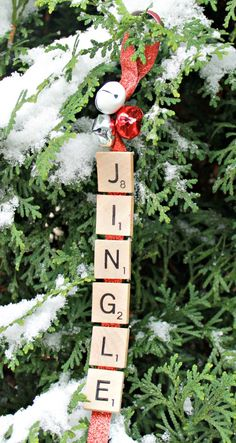 DIY Christmas scrabble Jingle