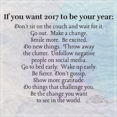 If you want 2017 to be your year!