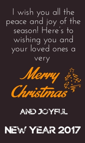 Merry Christmas and joyful New Year 2017