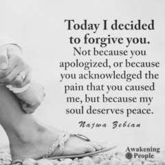Today I decided to forgive you! Love, broken heart, heartbroken, hurts, quote