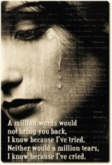 A million worlds would not bring you back! Love, broken heart, heartbroken, hurts, quote