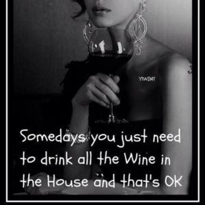 Somedays you just need to drink all the wine in the house and that's ok.