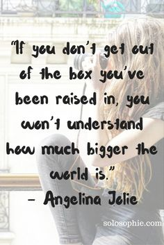 Get out of the box Angelina Jolie