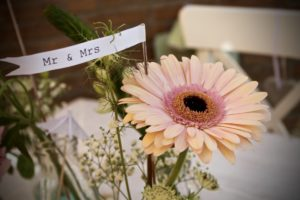 Wedding inspiration flowers mr and mrs