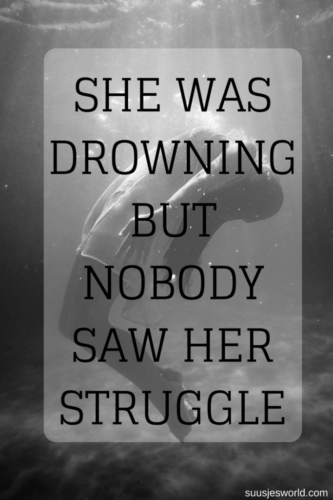 She was drowning but nobody saw her struggle