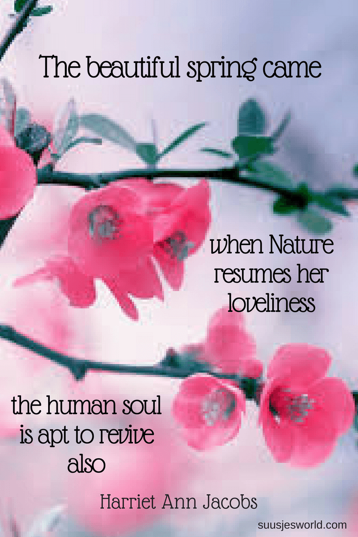 The beautiful spring came; and when Nature resumes her loveliness, the human soul is apt to revive also Harriet Ann Jacobs